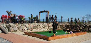 Fußball-Billard auf der Mini-Golfanlage in Göhren